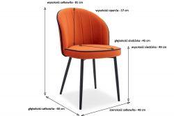 Ekskluzywne krzesło z bokami Glamour