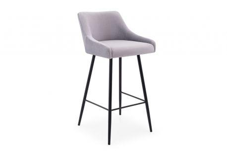 Krzesło Hoker Barowy Due Loft Tapicerowany Welur