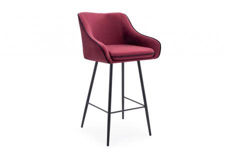Krzesło hoker ENE 94 kubełkowy barowy loft z oparciem